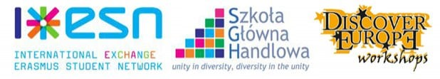 logo: esn, sgh, discovery europe